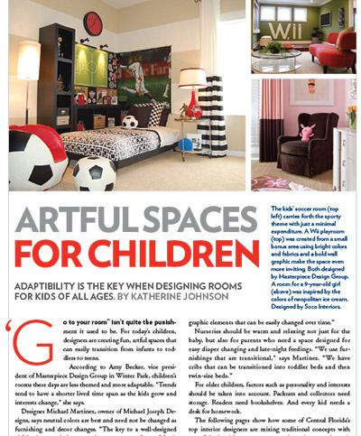 Artful Spaces For Children -2012